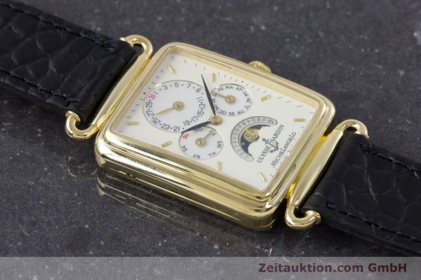 Used luxury watch Ulysse Nardin Michelangelo 18 ct gold automatic Kal. 16-5 Ref. 161-42  | 153532 14