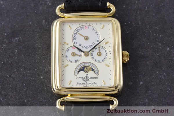 Used luxury watch Ulysse Nardin Michelangelo 18 ct gold automatic Kal. 16-5 Ref. 161-42  | 153532 15