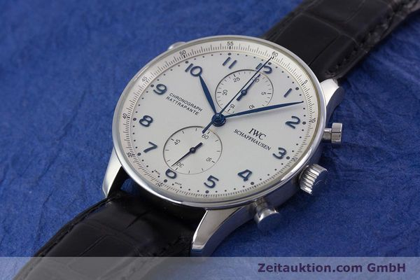 Used luxury watch IWC Portugieser chronograph steel automatic Kal. 76240 Ref. 3712  | 153536 01