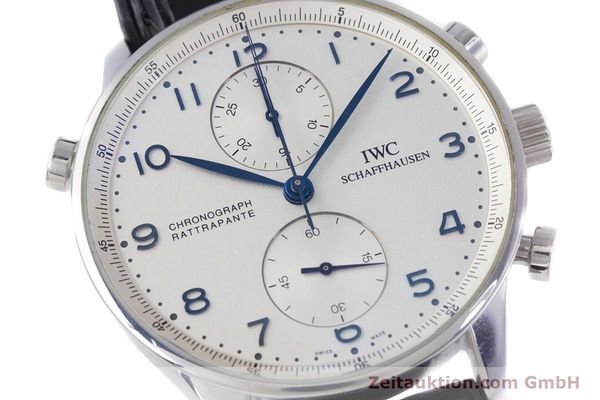 Used luxury watch IWC Portugieser chronograph steel automatic Kal. 76240 Ref. 3712  | 153536 02