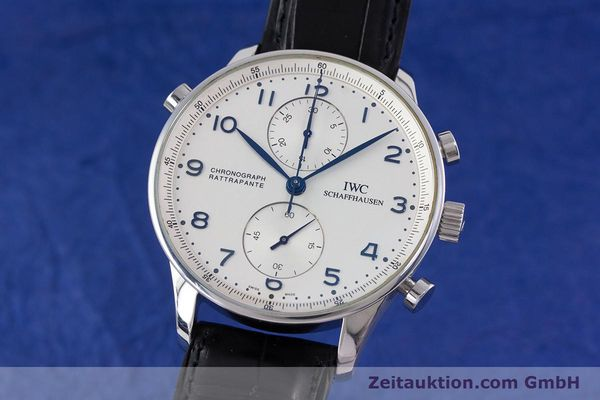 Used luxury watch IWC Portugieser chronograph steel automatic Kal. 76240 Ref. 3712  | 153536 04