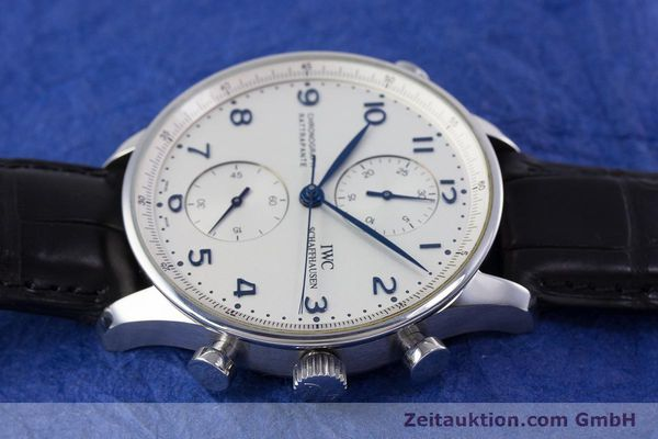 Used luxury watch IWC Portugieser chronograph steel automatic Kal. 76240 Ref. 3712  | 153536 05