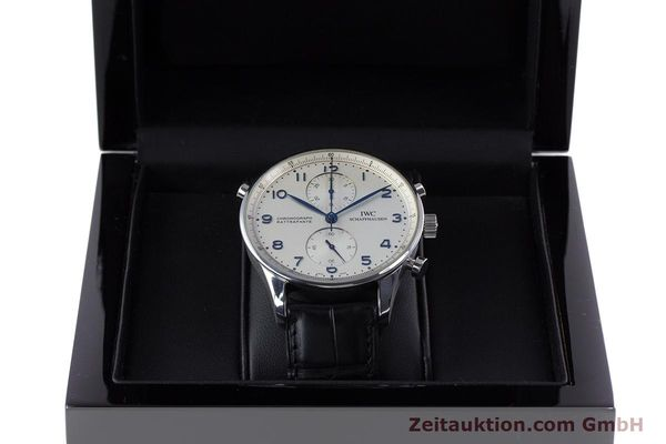 Used luxury watch IWC Portugieser chronograph steel automatic Kal. 76240 Ref. 3712  | 153536 07