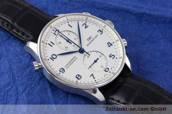 Used luxury watch IWC Portugieser chronograph steel automatic Kal. 76240 Ref. 3712  | 153536 16