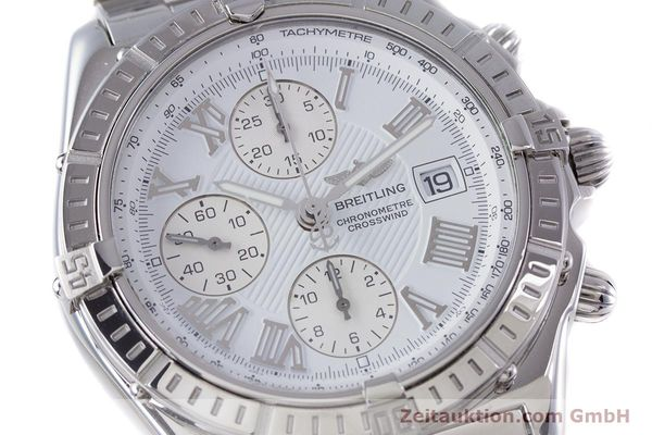 Used luxury watch Breitling Crosswind chronograph steel automatic Kal. B13 ETA 7750 Ref. A13355  | 153537 02
