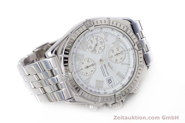 Used luxury watch Breitling Crosswind chronograph steel automatic Kal. B13 ETA 7750 Ref. A13355  | 153537 03