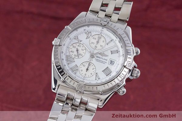 Used luxury watch Breitling Crosswind chronograph steel automatic Kal. B13 ETA 7750 Ref. A13355  | 153537 04