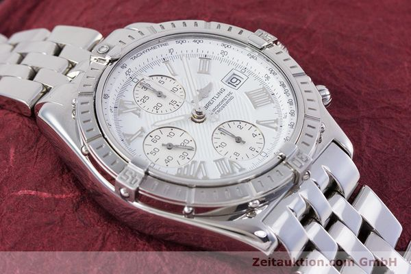 Used luxury watch Breitling Crosswind chronograph steel automatic Kal. B13 ETA 7750 Ref. A13355  | 153537 15