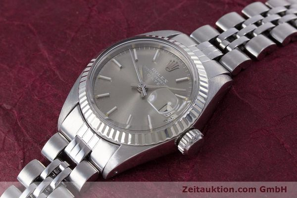 Used luxury watch Rolex Lady Date steel / white gold automatic Kal. 2030 Ref. 6917  | 153540 01