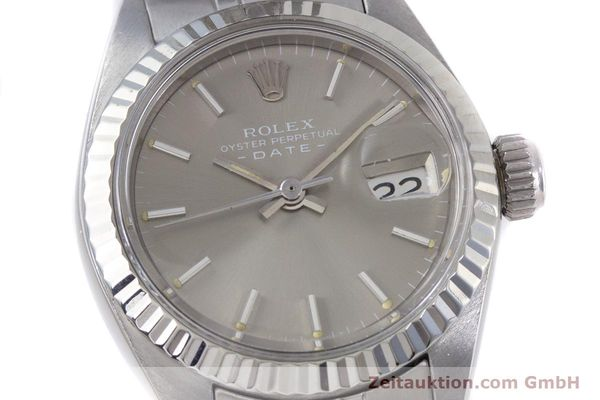 Used luxury watch Rolex Lady Date steel / white gold automatic Kal. 2030 Ref. 6917  | 153540 02