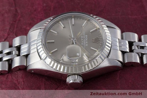Used luxury watch Rolex Lady Date steel / white gold automatic Kal. 2030 Ref. 6917  | 153540 05