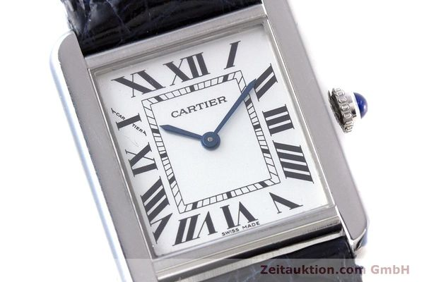 Used luxury watch Cartier Tank steel quartz Kal. 157 Ref. 2716  | 153554 02
