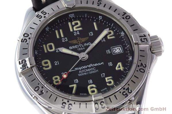 Used luxury watch Breitling Superocean steel automatic Kal. B17 ETA 2824-2 Ref. A17040  | 153560 02