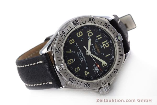 Used luxury watch Breitling Superocean steel automatic Kal. B17 ETA 2824-2 Ref. A17040  | 153560 03