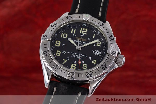 Used luxury watch Breitling Superocean steel automatic Kal. B17 ETA 2824-2 Ref. A17040  | 153560 04