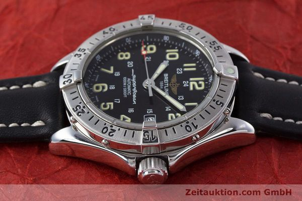 Used luxury watch Breitling Superocean steel automatic Kal. B17 ETA 2824-2 Ref. A17040  | 153560 05