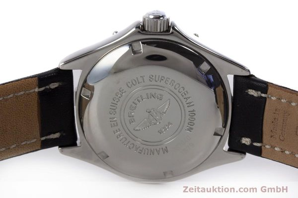 Used luxury watch Breitling Superocean steel automatic Kal. B17 ETA 2824-2 Ref. A17040  | 153560 09