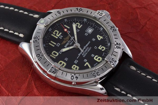 Used luxury watch Breitling Superocean steel automatic Kal. B17 ETA 2824-2 Ref. A17040  | 153560 12