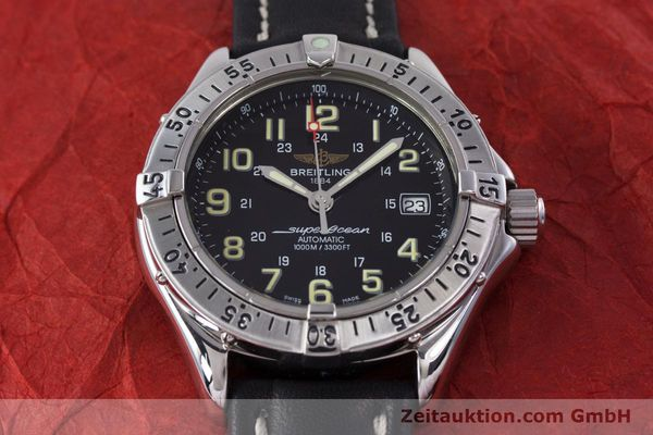 Used luxury watch Breitling Superocean steel automatic Kal. B17 ETA 2824-2 Ref. A17040  | 153560 13