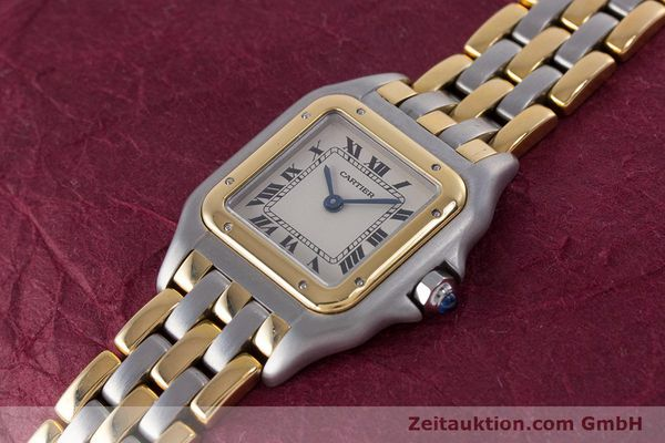 Used luxury watch Cartier Panthere steel / gold quartz Kal. 66  | 153565 01