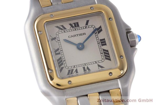 Used luxury watch Cartier Panthere steel / gold quartz Kal. 66  | 153565 02
