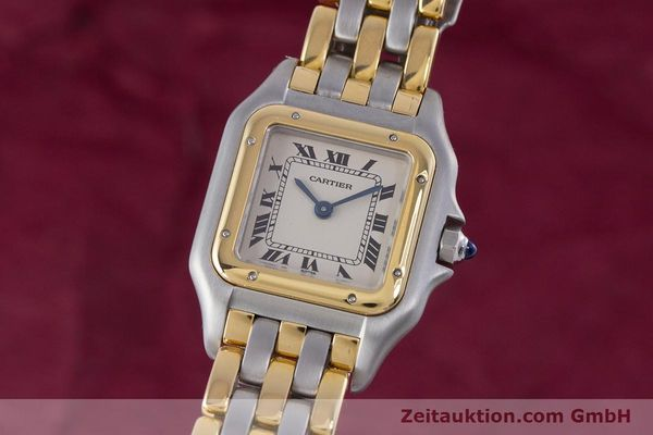 Used luxury watch Cartier Panthere steel / gold quartz Kal. 66  | 153565 04