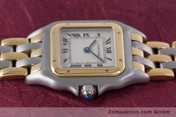 Used luxury watch Cartier Panthere steel / gold quartz Kal. 66  | 153565 05