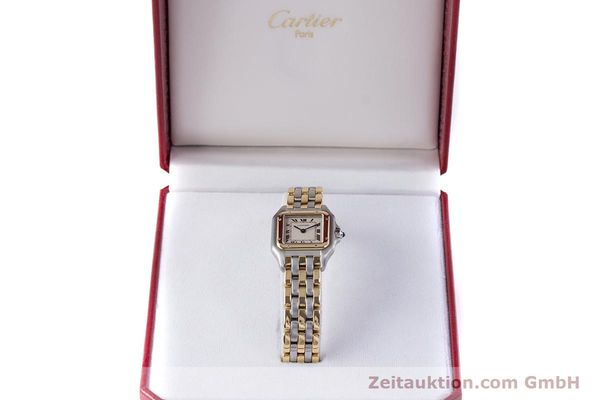 Used luxury watch Cartier Panthere steel / gold quartz Kal. 66  | 153565 07