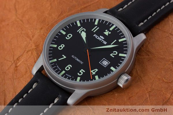 Used luxury watch Fortis Flieger steel automatic Kal. ETA 2824-2 Ref. 595.10.46  | 153566 01