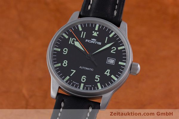 Used luxury watch Fortis Flieger steel automatic Kal. ETA 2824-2 Ref. 595.10.46  | 153566 04