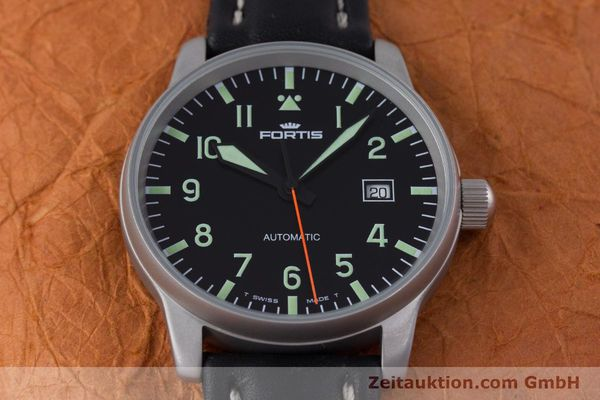 Used luxury watch Fortis Flieger steel automatic Kal. ETA 2824-2 Ref. 595.10.46  | 153566 15