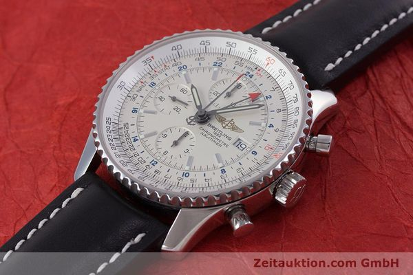 Used luxury watch Breitling Navitimer World chronograph steel automatic Kal. B24 ETA 7754 Ref. A24322  | 153568 01