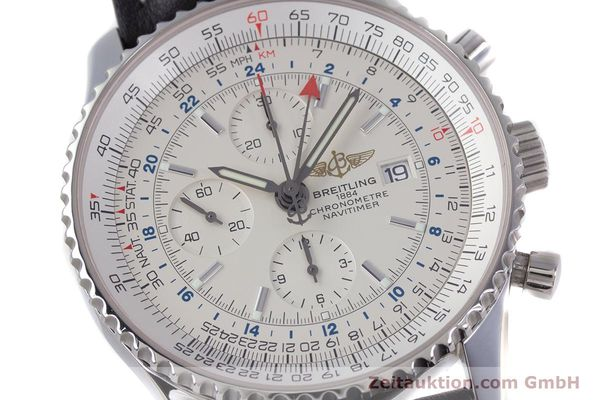 Used luxury watch Breitling Navitimer World chronograph steel automatic Kal. B24 ETA 7754 Ref. A24322  | 153568 02