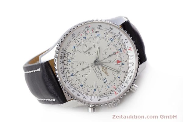 Used luxury watch Breitling Navitimer World chronograph steel automatic Kal. B24 ETA 7754 Ref. A24322  | 153568 03