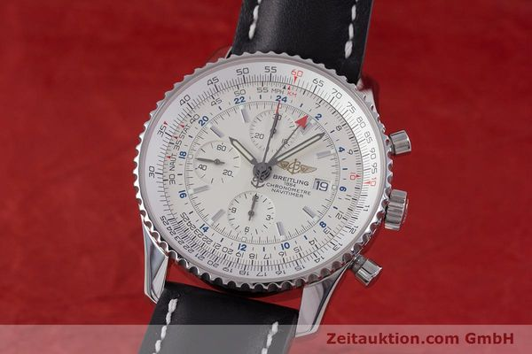 Used luxury watch Breitling Navitimer World chronograph steel automatic Kal. B24 ETA 7754 Ref. A24322  | 153568 04