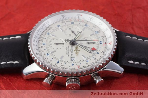 Used luxury watch Breitling Navitimer World chronograph steel automatic Kal. B24 ETA 7754 Ref. A24322  | 153568 05