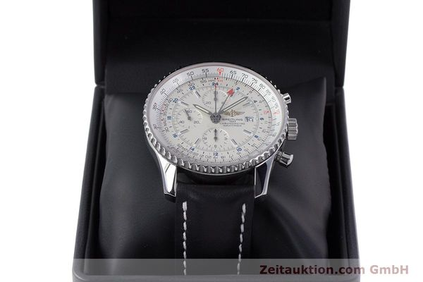 Used luxury watch Breitling Navitimer World chronograph steel automatic Kal. B24 ETA 7754 Ref. A24322  | 153568 07