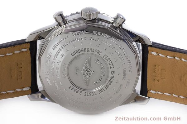 Used luxury watch Breitling Navitimer World chronograph steel automatic Kal. B24 ETA 7754 Ref. A24322  | 153568 09