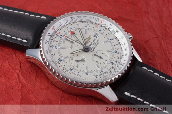 Used luxury watch Breitling Navitimer World chronograph steel automatic Kal. B24 ETA 7754 Ref. A24322  | 153568 12