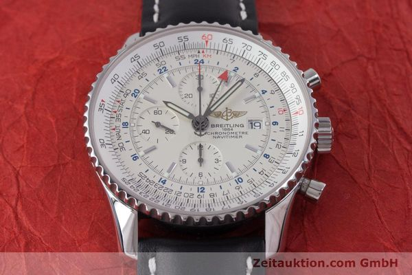 Used luxury watch Breitling Navitimer World chronograph steel automatic Kal. B24 ETA 7754 Ref. A24322  | 153568 13