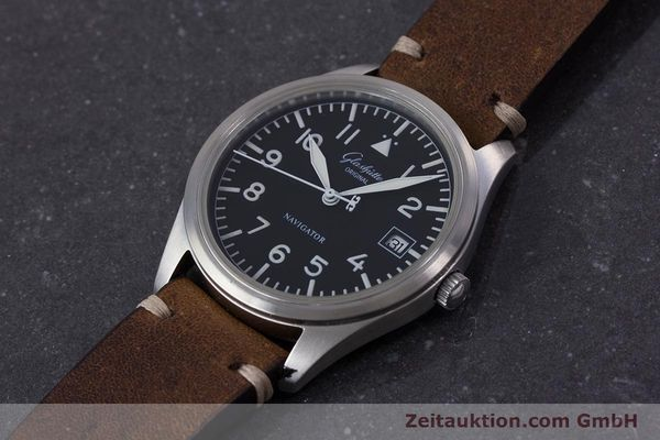 Used luxury watch Glashütte Navigator steel automatic Kal. GUB 10-30  | 153572 01