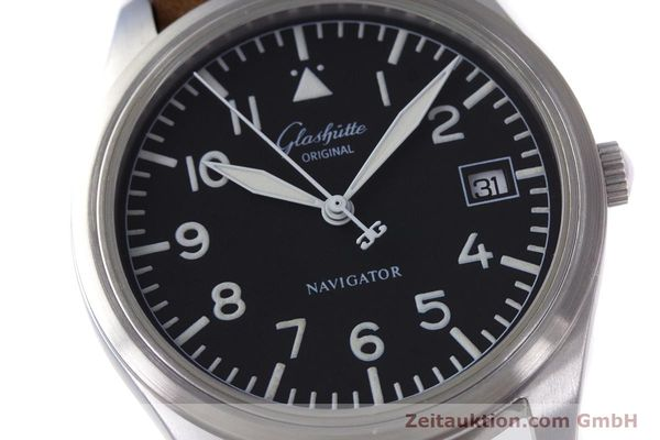 Used luxury watch Glashütte Navigator steel automatic Kal. GUB 10-30  | 153572 02