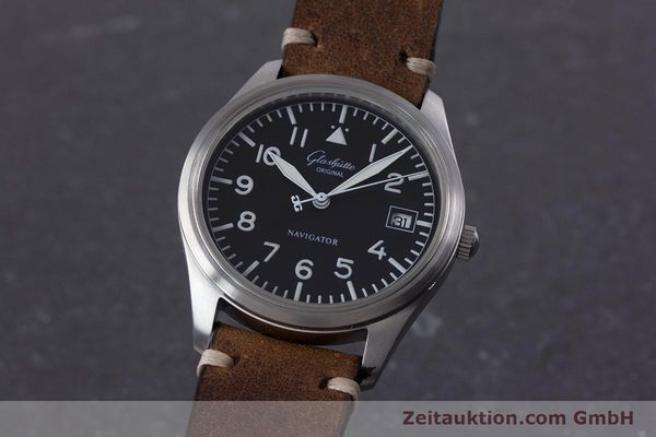 Used luxury watch Glashütte Navigator steel automatic Kal. GUB 10-30  | 153572 04