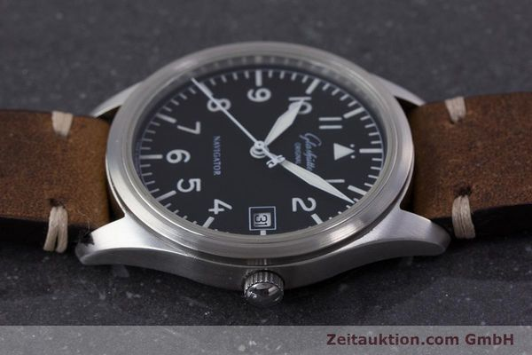 Used luxury watch Glashütte Navigator steel automatic Kal. GUB 10-30  | 153572 05