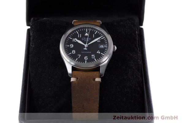 Used luxury watch Glashütte Navigator steel automatic Kal. GUB 10-30  | 153572 07
