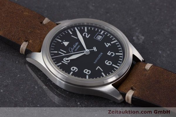 Used luxury watch Glashütte Navigator steel automatic Kal. GUB 10-30  | 153572 12