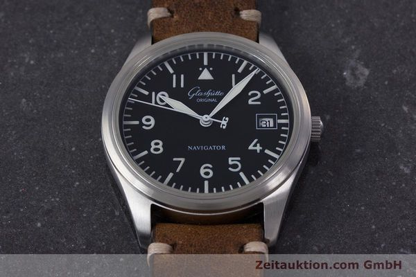 Used luxury watch Glashütte Navigator steel automatic Kal. GUB 10-30  | 153572 13