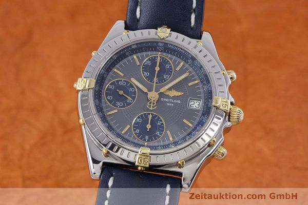 Used luxury watch Breitling Chronomat chronograph steel / gold automatic Kal. B13 ETA 7750 Ref. B13050.1  | 153578 04