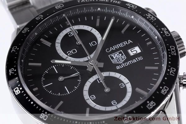 Used luxury watch Tag Heuer Carrera chronograph steel automatic Kal. 16 ETA 7750 Ref. CV2010-3  | 153584 02