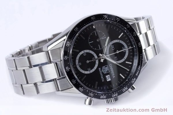 Used luxury watch Tag Heuer Carrera chronograph steel automatic Kal. 16 ETA 7750 Ref. CV2010-3  | 153584 03